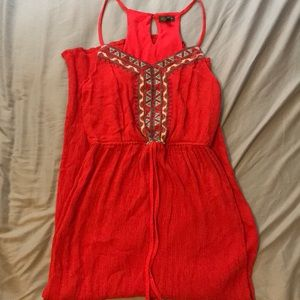 Red sundress